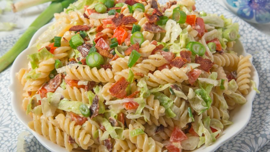 Blt pasta salad recipe genius kitchen 19 view more photos save recipe forumfinder Gallery
