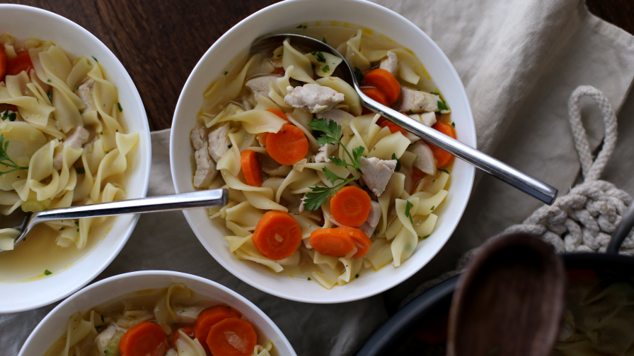 30 minute chicken noodle soup from foodtv rachael ray recipe 4 view more photos save recipe forumfinder Gallery