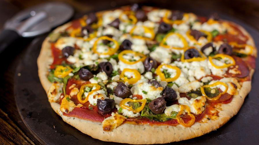 Super crispy thin pizza crust recipe genius kitchen 13 view more photos save recipe forumfinder Gallery