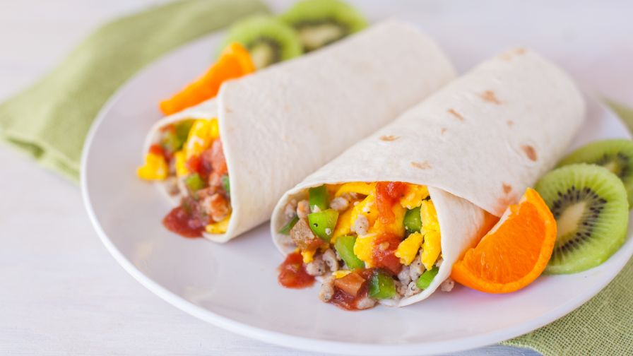 Breakfast burrito recipe genius kitchen 9 view more photos save recipe forumfinder Images