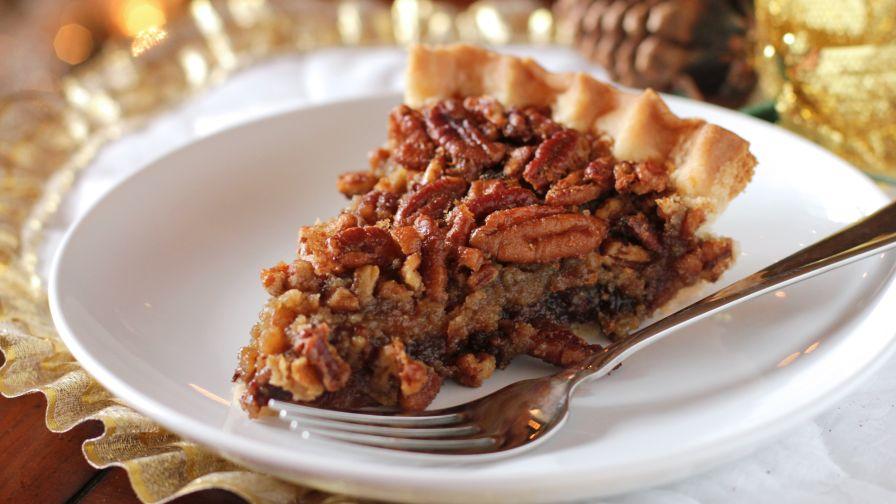 Bourbon chocolate pecan pie recipe genius kitchen 10 view more photos save recipe forumfinder Choice Image