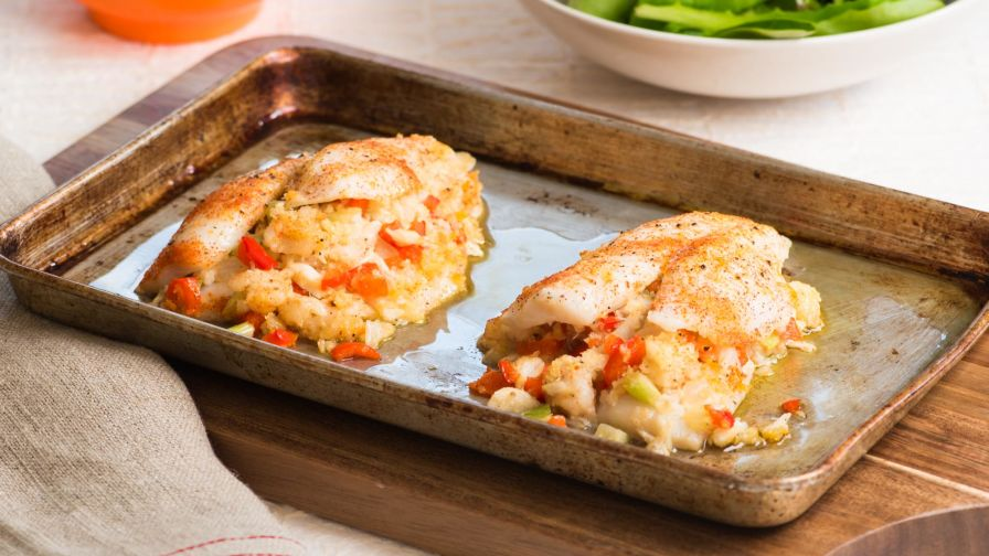 Flounder stuffed with shrimp and crabmeat recipe genius kitchen 15 view more photos save recipe forumfinder Images