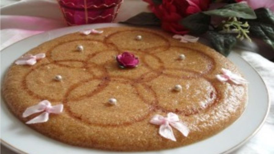 Tamina algerian toasted semolina and honey sweet recipe 1 view more photos save recipe forumfinder Images