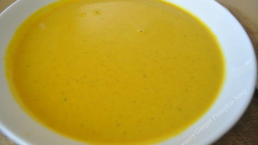Creamy ginger pumpkin soup recipe genius kitchen 4 view more photos save recipe forumfinder Choice Image