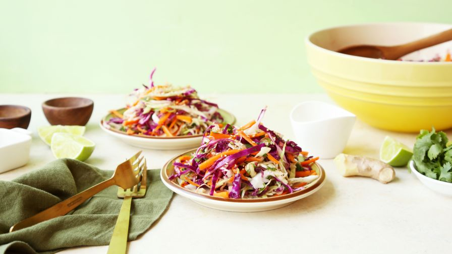 Ginger lime cole slaw recipe genius kitchen 6 view more photos save recipe forumfinder Choice Image