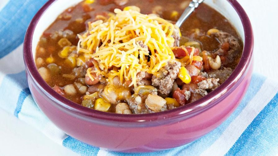 Crock pot taco soup recipe genius kitchen 26 view more photos save recipe forumfinder Choice Image