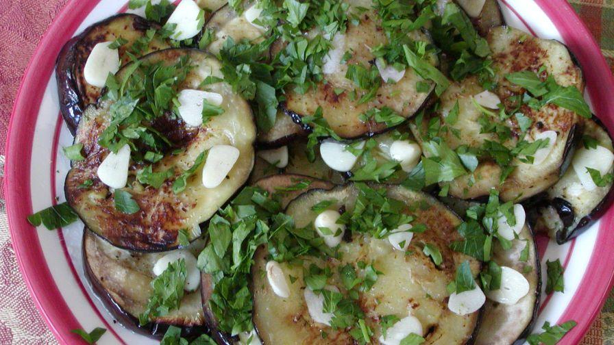 Eggplant aubergine with raw garlic recipe genius kitchen 3 view more photos save recipe forumfinder Images
