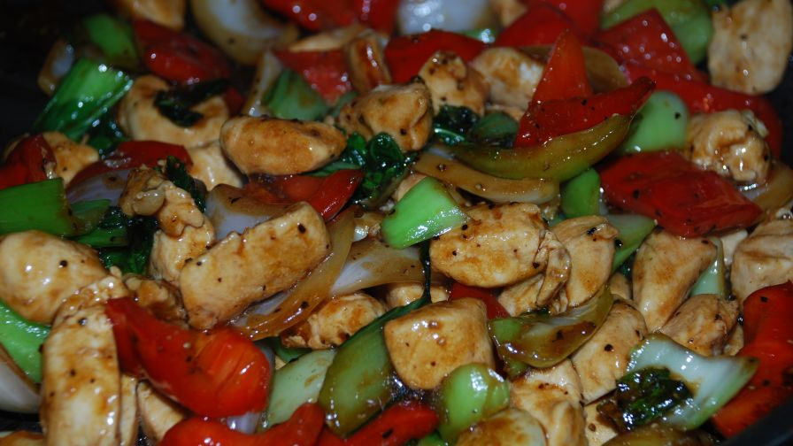 Chinese chicken with black pepper sauce recipe genius kitchen 10 view more photos save recipe forumfinder Images