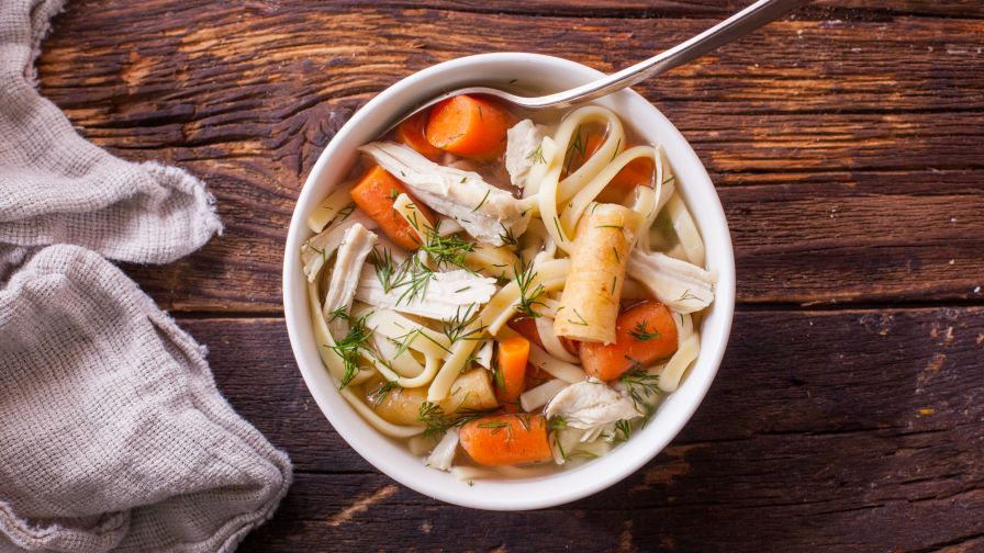 Chicken noodle soup with carrots parsnips and dill recipe genius 5 view more photos forumfinder Choice Image