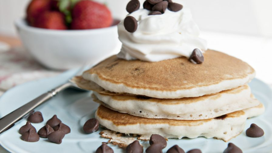 Chocolate chip pancakes recipe genius kitchen 9 view more photos save recipe forumfinder Images