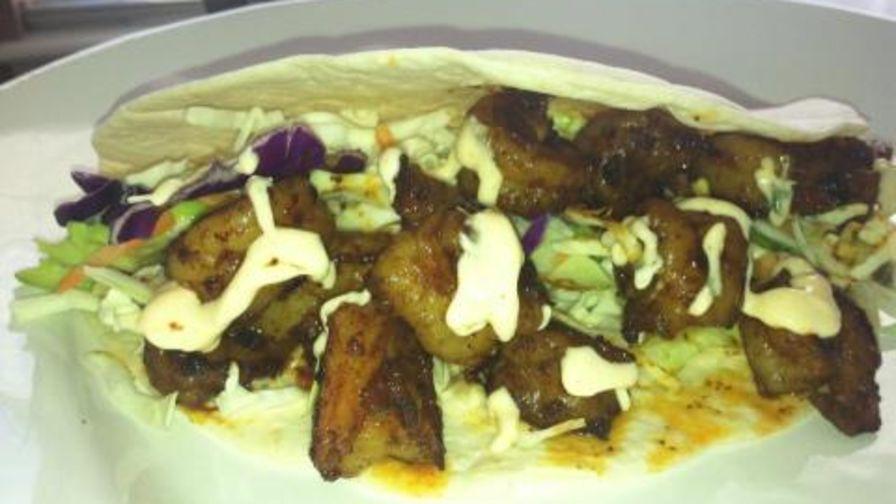 Spicy shrimp tacos with spicy cream sauce recipe genius kitchen 1 view more photos save recipe forumfinder Images