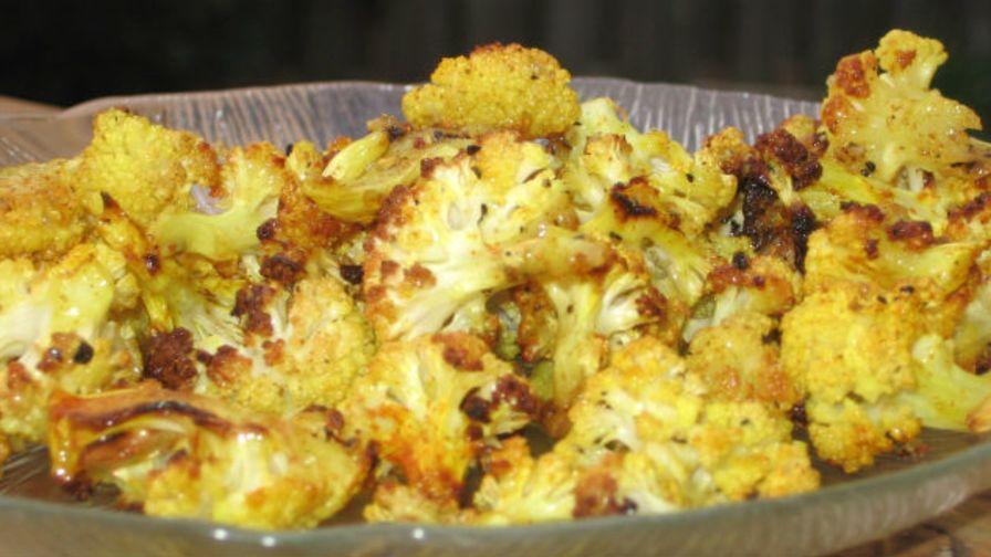 Indian roasted cauliflower recipe genius kitchen 4 view more photos save recipe forumfinder Images