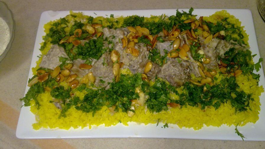 Jordanian mansaf recipe genius kitchen 2 view more photos save recipe forumfinder Image collections