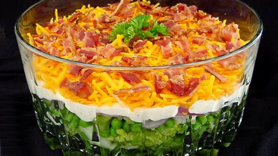 Yummy 7 layer salad recipe genius kitchen 10 view more photos save recipe forumfinder Image collections