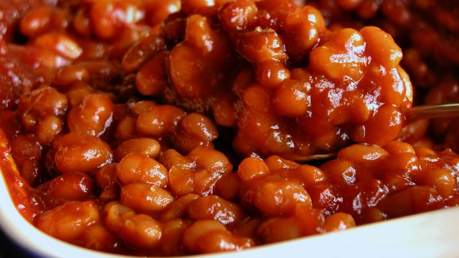 Quick and easy baked beans recipe genius kitchen forumfinder Gallery
