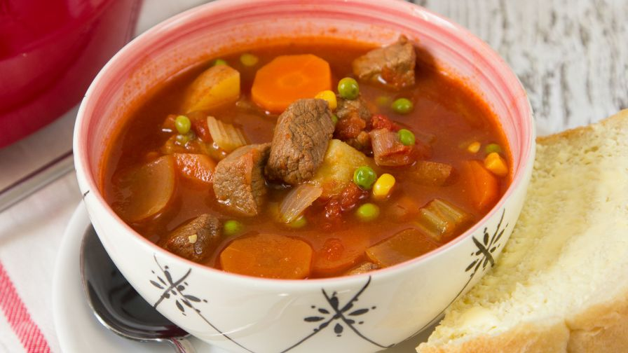 Old fashioned vegetable beef soup recipe genius kitchen 9 view more photos save recipe forumfinder Image collections