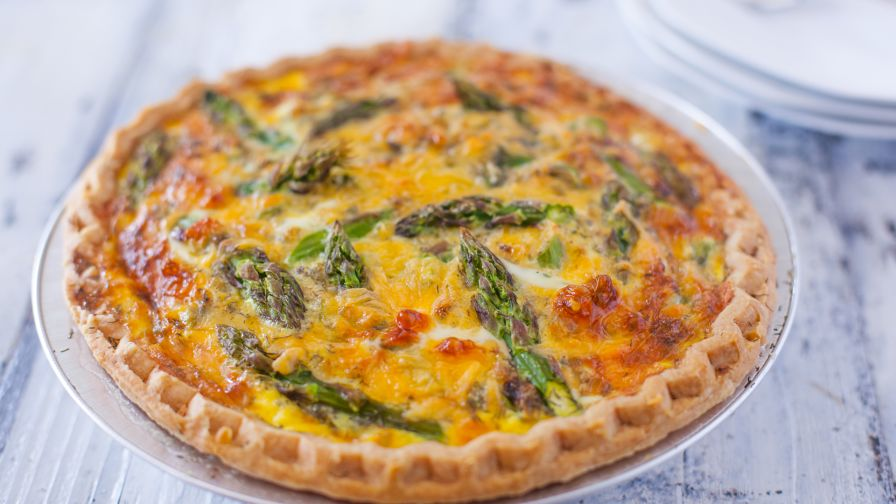 Asparagus cheddar quiche recipe genius kitchen 7 view more photos save recipe forumfinder Gallery