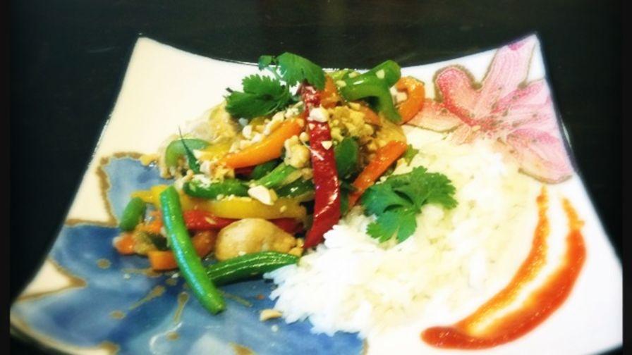 Thai chicken and vegetable stir fry recipe genius kitchen 2 view more photos save recipe forumfinder Gallery