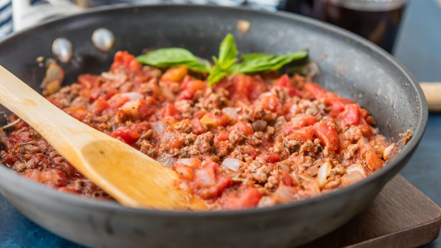 Ediths low salt spaghetti sauce for one recipe genius kitchen 4 view more photos save recipe forumfinder Gallery