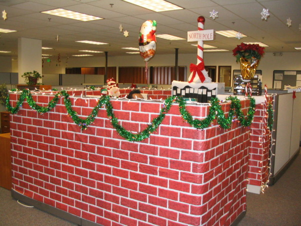 Office Cubicle Xmas Decorations