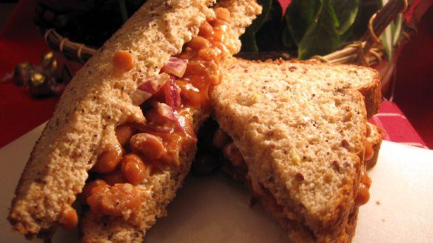 Linda's Bean & Mayonnaise Sandwich